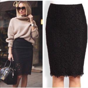 🖤NWT Lauren Ralph Lauren Black Lace Midi Skirt